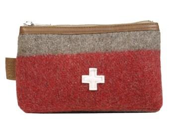 WD53 Swiss Army Blanket Toiletry Bag by Karlen Swiss