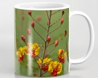 Coffee Mug Ceramic Mug Mexican Bird of Paradise Flower