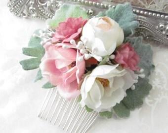 Floral Comb / Bridal Hair Flower / Flower Comb