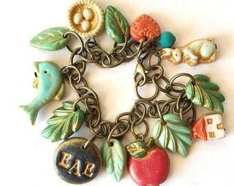 Kindergarten Graduation, Teacher Gift, Personalized teacher Jewelry, Monogram Bracelet, Graduation present, Kindergarten teacher