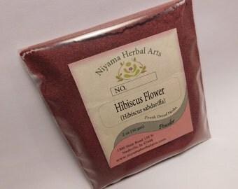 Hibiscus Powder, (Hibiscus sabdariffa) Premium Quality, 100% Pure