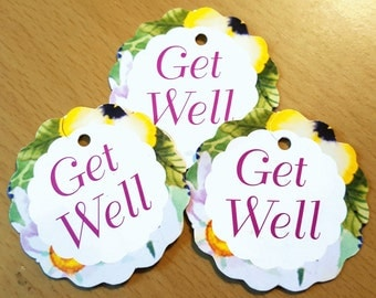 Get Well Tags - .01 cent Shipping!