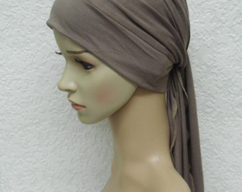 Chemo head wear for women, head covering for hair loss, chemotherapy patient head scarf, turban snood with ties, chemo turban