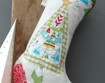 LARGE CHRISTMAS TREE Personalised Personalized Christmas Stocking.