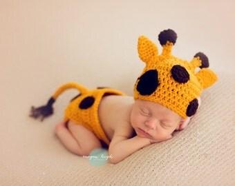 Baby Giraffe Hat Giraffe Diaper Cover Photo Prop Baby Costumes Baby Halloween  sc 1 st  Etsy & Newborn baby costume | Etsy