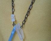 Aura Crystal Necklace, Spirit Crystal Necklace, BOHO Natural Stones Necklace