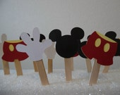 Mickey Mouse Cupcake Toppers- Mickey Mouse Birthday