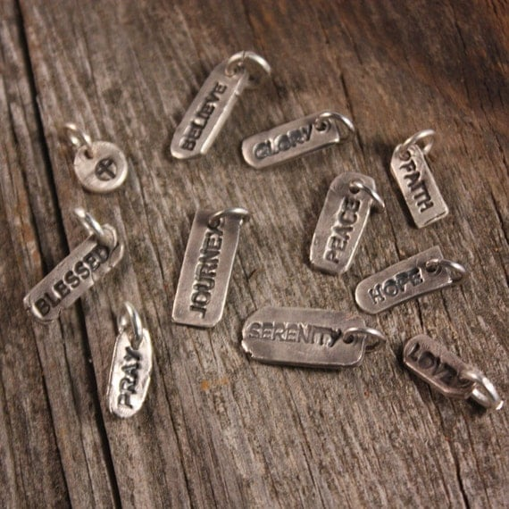 Sterling Silver Faith Tags