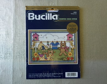 Bucilla Counted Cross Stitch Kit Washday Bears