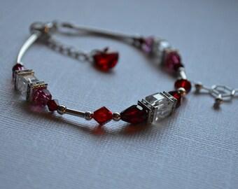 Biolojewelry - Neurotransmitter Dopamine Love and Crystal Beautiful Psychology Bracelet