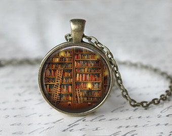 Mini Book Necklace - Book Necklace - Book Pendant - Book Lover Gift - Literacy Gift - Mini Book Charm - Librarian Gift L40