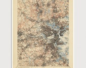Old Boston Map Art Print 1903 Antique Map Archival Reproduction - USGS Topographic Map