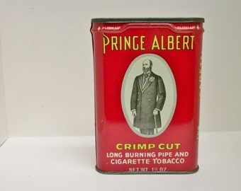Vintage Prince Albert Tobacco Tin Crimp Cut Pipe Cigarette