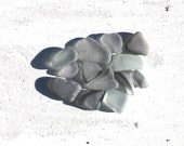 shades of grey sea glass Scottish beach finds seaglass jewelry supplies craft tools arts&crafts supply (70)