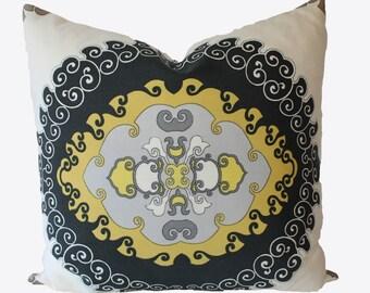 Decorative Designer Trina Turk, Schumacher, Super Paradise, Driftwood, Pillow Cover, 22x22, 24x24, 26x26. Outdoor Throw Pillow