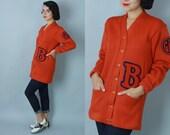 1940s Collegiette cardigan | vintage 40s letterman sweater | medium