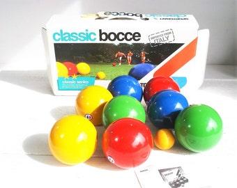 vintage italian sportcraft complete bocce ball set