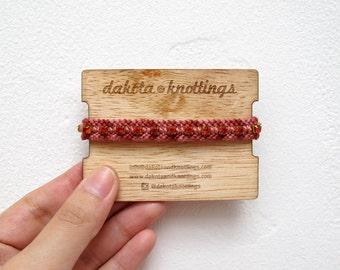 CLEARANCE SALE Friendship Bracelet, Woven Braided Bracelet, Rhinestone Bracelet, Marsala Bracelet, Red Wine Bracelet