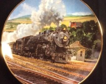 Train Plate-The Black Hawk Limited