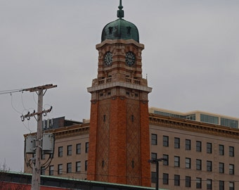Cleveland's West Side Market in Winter (FREE shipping in the U.S. only)