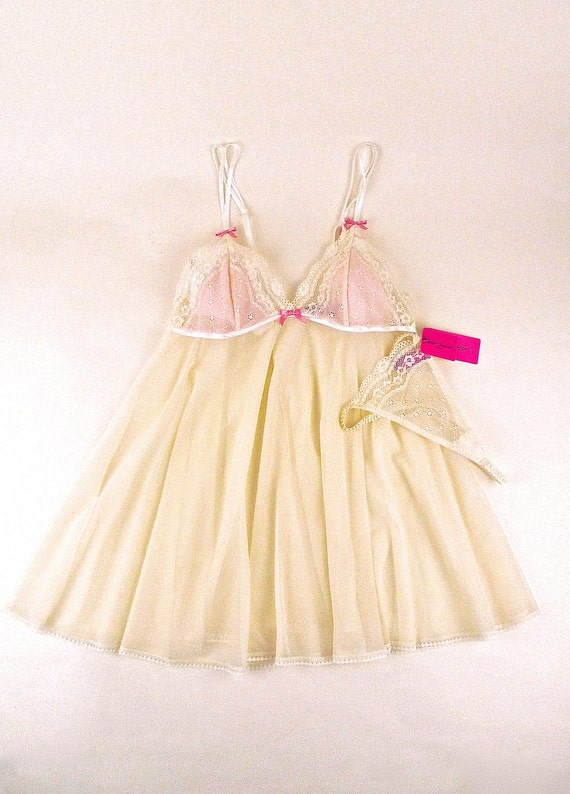 Betsey Johnson Baby Doll Nightie Lounge Wear Vintage New Old
