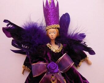 SUGAR PLUM FAIRY * Angel Ornament * Fairy Princess * Queen * Muse * Renaissance