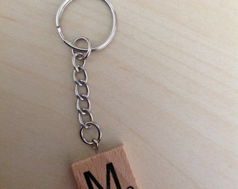 Scrabble letter key ring