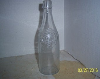 1890's Springfield Breweries Boston, Ma clear 9 1/4 inch  blob top soda bottle