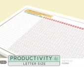 Printable PRODUCTIVITY Kit - 24 sheets - Stationery Theme - Letter Size - for Home Management, Small Business and Personal Binder