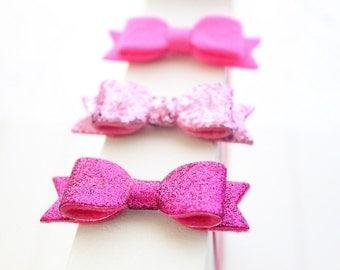 Felt bows- Set of 3 - Baby girl headbands- Toddler headbands- Hair accessories- headbands- baby shower gift- Photo prop-