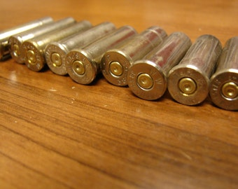 Empty, spent Variety of 38 Special ammo brass shells for crafting and jewelry. lot 19 pieces silver brass