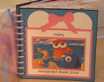 Disney Autograph Book  w/Finding Dory and Hank the Octopus  Album Scrapbook  Keepsake