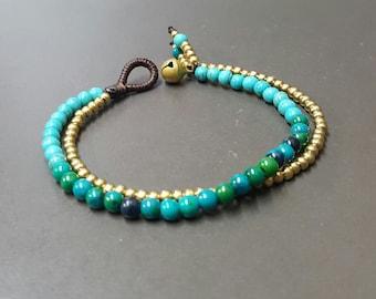 Chrysocolla Turquoise Chain   Bracelet