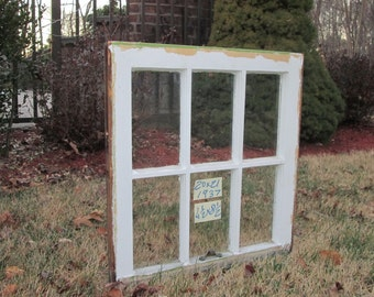 20 x 21 Vintage Antique Window sash old 6 pane  from 1937