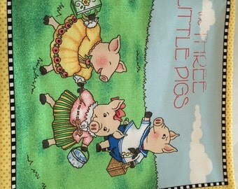 Three Little Pigs Fabric Book with Mary Engelbreit Designs