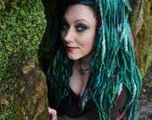 OOAK Elflocks SALE! Dreadfalls in Green, Blue, Yellow, Red for Cosplay, LARP, Clubbing, Tribal Belly Dance, Festivals, Alt Fashion