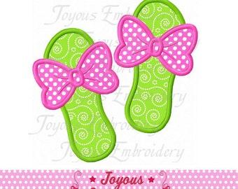 Instant Download Bow Flip Flops Applique Machine Embroidery Design NO:2069