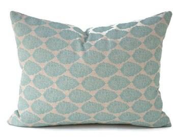 Lumbar Pillow Cover ANY SIZE Decorative Pillows Blue Pillow Premier Prints Jersey Laken Ridgeland Blue
