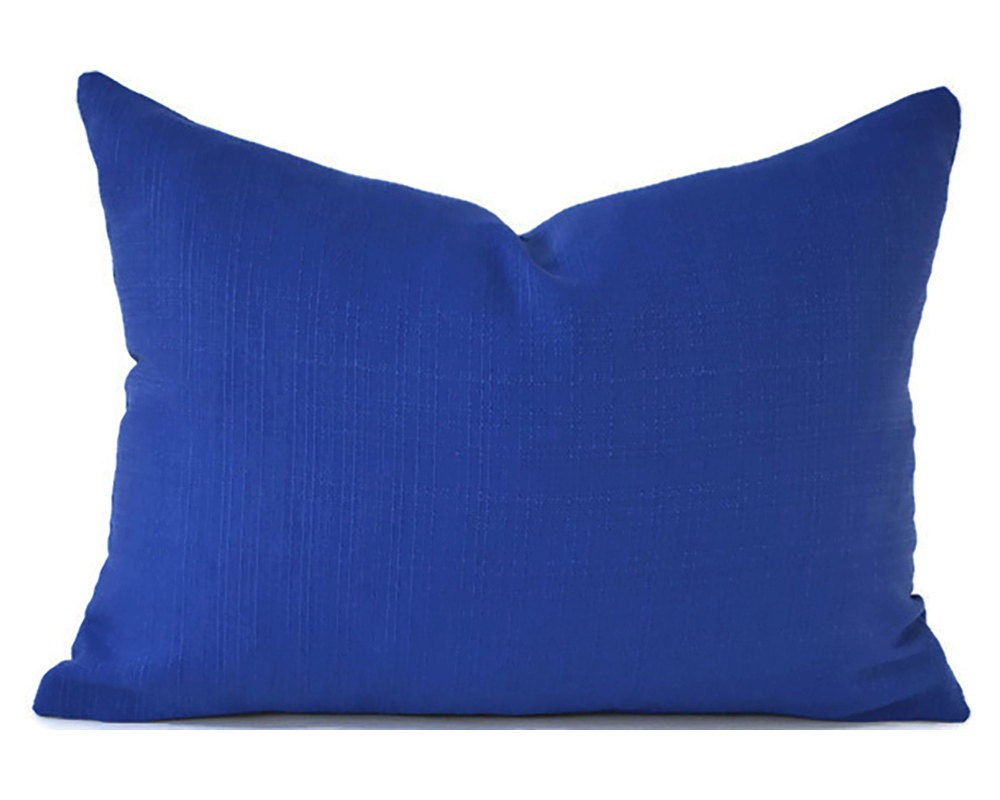 Outdoor Bright Navy Lumbar Pillow Cover ANY SIZE Decorative