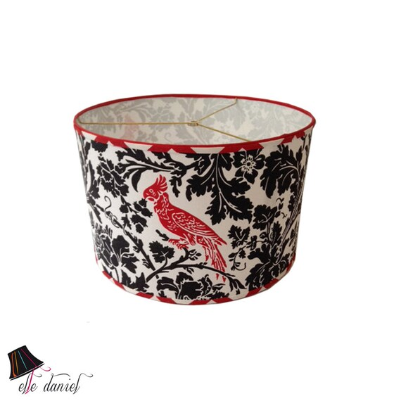 Bird Lamp Shade: Red Bird Drum Lamp Shade One Of Our Drum Lamp Shades Red