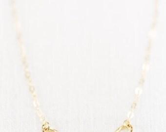 SALE Leilani necklace - gold necklace, delicate gold necklace, dainty gold necklace, bridesmaid jewelry, gold bridesmaid necklace, hawaii je