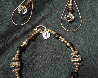 Black and bronze set