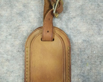 Authentic Louis Vuitton Vintage leather luggage ID tag,  name tag ID, for Keepall or others