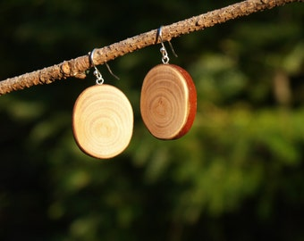 Wood Earrings, Tree Branch Earrings, Madrone Wood Earrings, Forest Earrings