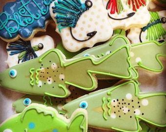 Fishing Decorated Sugar Cookies- 1 dozen