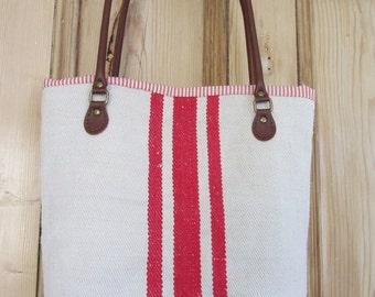 Vintage Grain Sack tote bag
