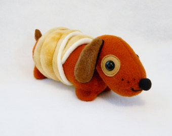 Plush crescent wiener dog dachshund plush animals