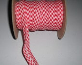 "Wholesale Sewing Supplies Double Fold Bias Tape 1/2"" Extra Wide 10 yards RED GINGHAM"