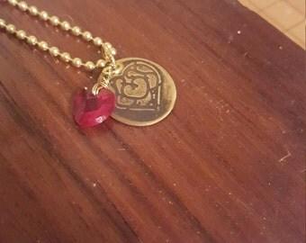 Legend of Zelda Gold Plated Swarovski Crystal Health Necklace Custom fan necklace