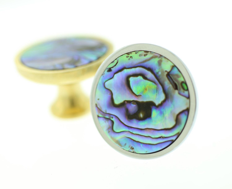 Mermaid Knob--Abalone Dresser Knob--Abalone Brass Knob from ...